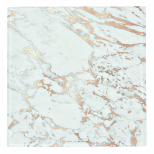 ROSEGOLD MARBLE - personalised drink coaster by Monika Strigel